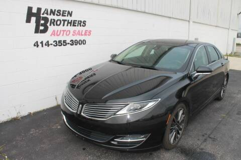 2013 Lincoln MKZ for sale at HANSEN BROTHERS AUTO SALES in Milwaukee WI