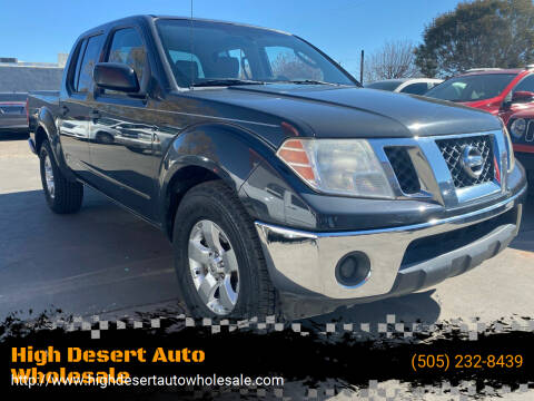 2010 Nissan Frontier for sale at High Desert Auto Wholesale in Albuquerque NM