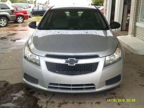 2012 Chevrolet Cruze for sale at DONNIE ROCKET USED CARS in Detroit MI