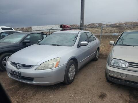 2003 Honda Accord for sale at PYRAMID MOTORS - Fountain Lot in Fountain CO