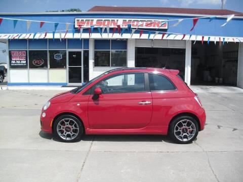 2012 FIAT 500 for sale at Wilson Motors in Junction City KS