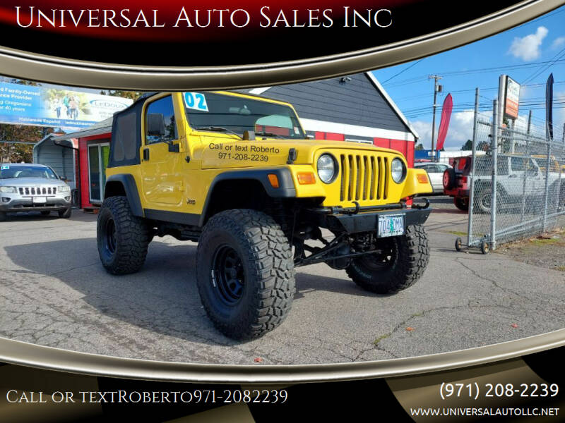 2002 Jeep Wrangler for sale at Universal Auto Sales Inc in Salem OR