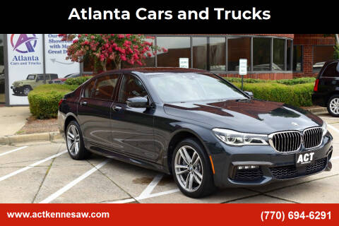 2016 BMW 7 Series for sale at Atlanta Cars and Trucks in Kennesaw GA