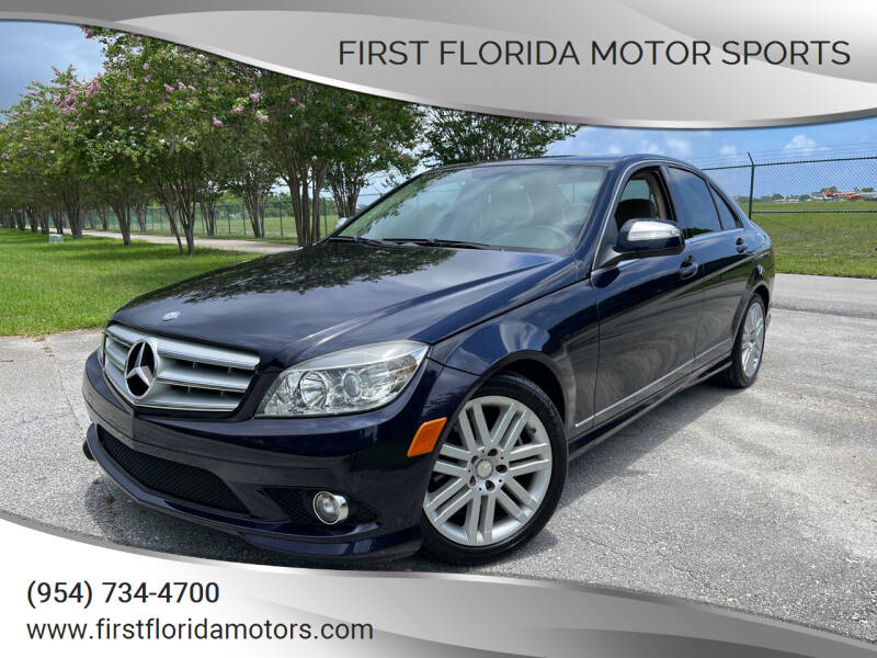 2009 Mercedes-Benz C-Class for sale at FIRST FLORIDA MOTOR SPORTS in Pompano Beach FL
