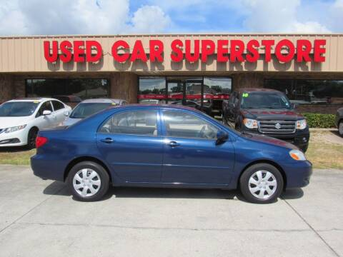 2003 Toyota Corolla for sale at Checkered Flag Auto Sales NORTH in Lakeland FL