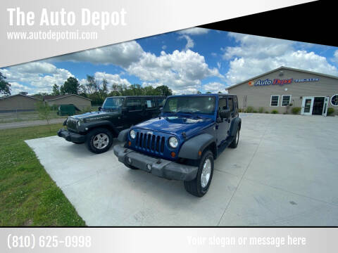2010 Jeep Wrangler Unlimited for sale at The Auto Depot in Mount Morris MI