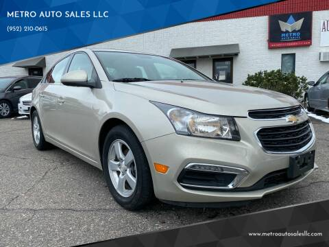2015 Chevrolet Cruze for sale at METRO AUTO SALES LLC in Blaine MN