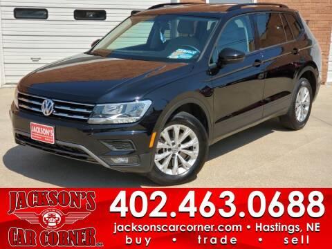 2018 Volkswagen Tiguan for sale at Jacksons Car Corner Inc in Hastings NE