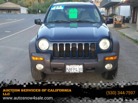 2002 Jeep Liberty for sale at AUCTION SERVICES OF CALIFORNIA in El Dorado CA