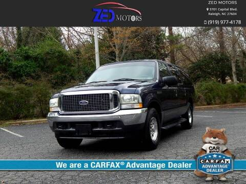 2003 Ford Excursion for sale at Zed Motors in Raleigh NC
