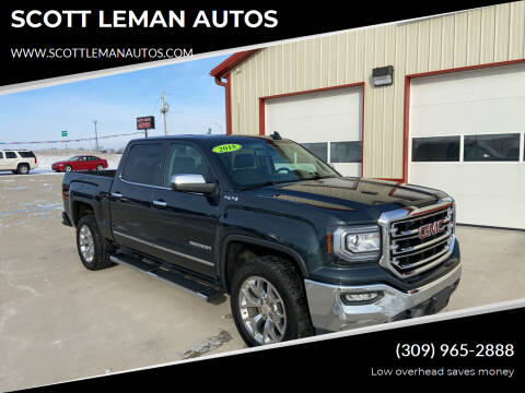 2018 GMC Sierra 1500 for sale at SCOTT LEMAN AUTOS in Goodfield IL