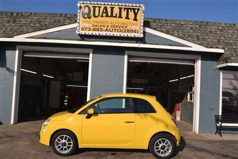 2013 FIAT 500 for sale at Quality Pre-Owned Automotive in Cuba MO
