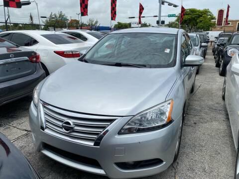 2015 Nissan Sentra for sale at America Auto Wholesale Inc in Miami FL