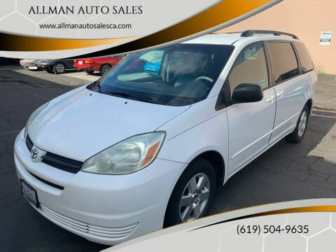 2004 Toyota Sienna for sale at ALLMAN AUTO SALES in San Diego CA