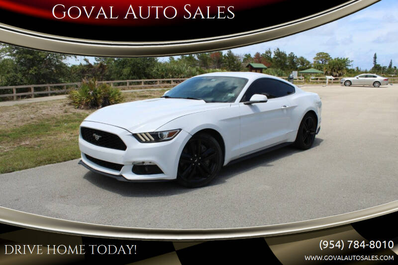 2015 Ford Mustang for sale at Goval Auto Sales in Pompano Beach FL