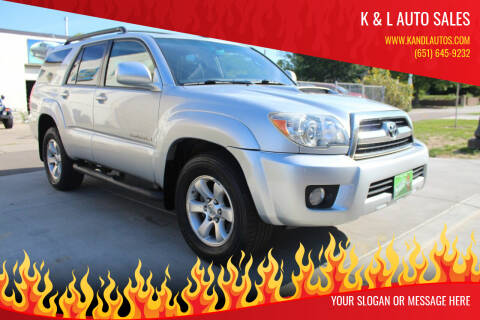 2008 Toyota 4Runner for sale at K & L Auto Sales in Saint Paul MN