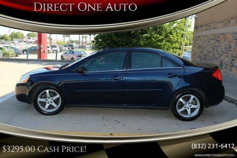 2008 Pontiac G6 for sale at Direct One Auto in Houston TX