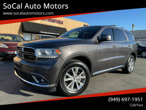 2015 Dodge Durango for sale at SoCal Auto Motors in Costa Mesa CA