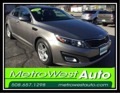 2015 Kia Optima for sale at Metro West Auto in Bellingham MA
