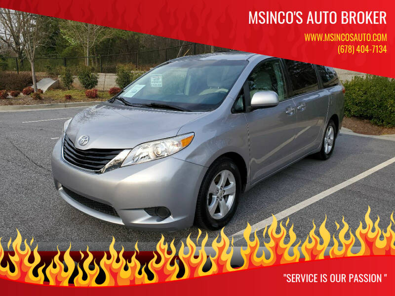 2011 Toyota Sienna for sale at Msinco's Auto Broker in Snellville GA