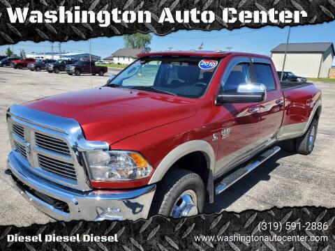 2010 Dodge Ram Pickup 3500 for sale at Washington Auto Center in Washington IA