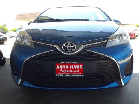 2015 Toyota Yaris for sale at Auto Haus Imports in Grand Prairie TX