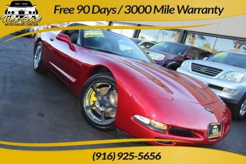 2004 Chevrolet Corvette for sale at West Coast Auto Sales Center in Sacramento CA