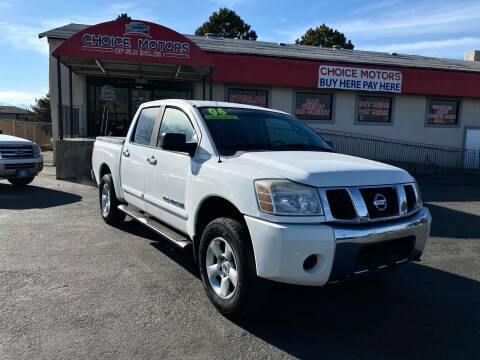 2006 Nissan Titan for sale at Choice Motors of Salt Lake City in West Valley  City UT
