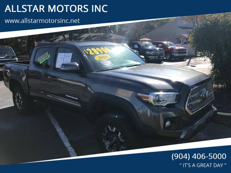 2016 Toyota Tacoma for sale at ALLSTAR MOTORS INC in Middleburg FL