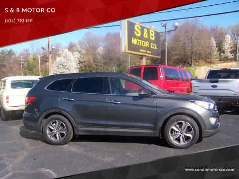 2014 Hyundai Santa Fe for sale at S & B MOTOR CO in Danville VA