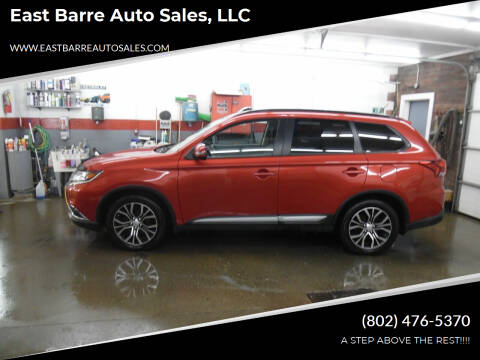 2016 Mitsubishi Outlander for sale at East Barre Auto Sales, LLC in East Barre VT