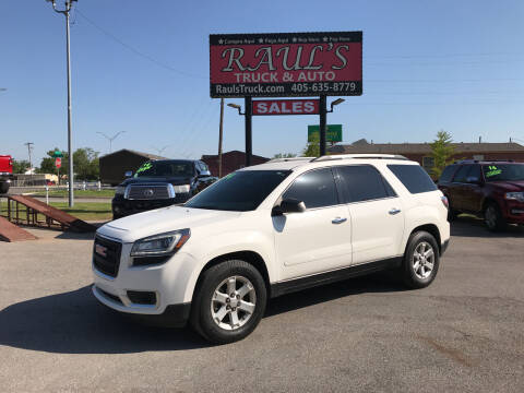 2014 GMC Acadia for sale at RAUL'S TRUCK & AUTO SALES, INC in Oklahoma City OK