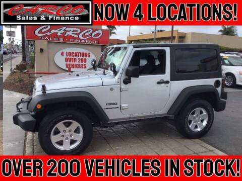 2011 Jeep Wrangler for sale at CARCO SALES & FINANCE in Chula Vista CA