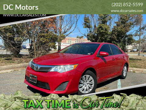2012 Toyota Camry for sale at DC Motors in Springfield VA