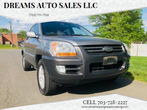 2006 Kia Sportage for sale at Dreams Auto Sales LLC in Leesburg VA
