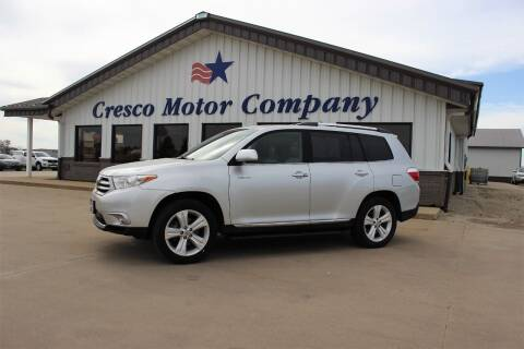2011 Toyota Highlander for sale at Cresco Motor Company in Cresco IA