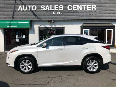 2017 Lexus RX 350 for sale at Auto Sales Center Inc in Holyoke MA