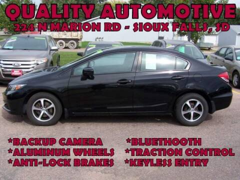 2015 Honda Civic for sale at Quality Automotive in Sioux Falls SD