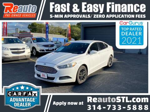 2013 Ford Fusion for sale at Reauto in Saint Louis MO