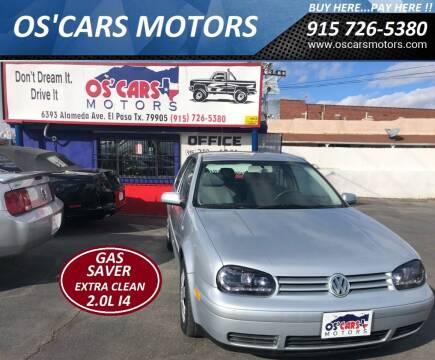 2004 Volkswagen Golf for sale at Os'Cars Motors in El Paso TX
