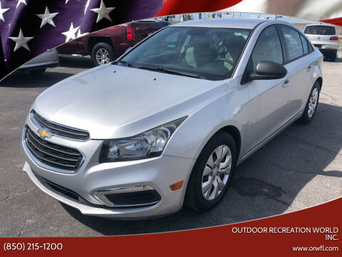 2015 Chevrolet Cruze for sale at Outdoor Recreation World Inc. in Panama City FL