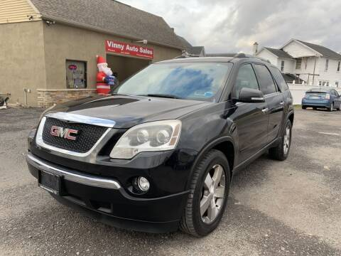 2010 GMC Acadia for sale at VINNY AUTO SALE in Duryea PA