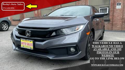 2019 Honda Civic for sale at Rocky's Auto Sales in Worcester MA