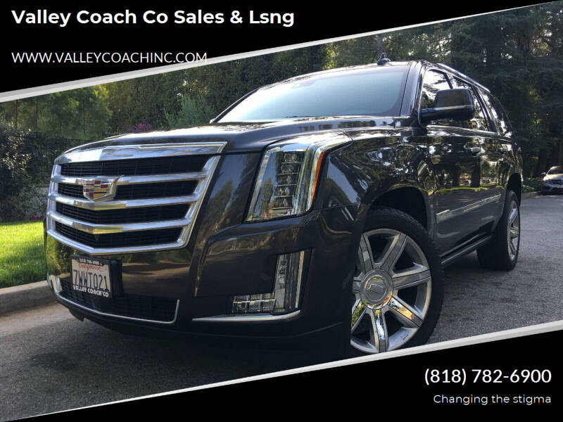 2016 Cadillac Escalade for sale at Valley Coach Co Sales & Lsng in Van Nuys CA