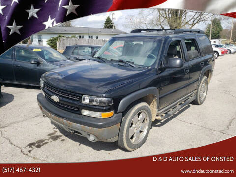 2003 Chevrolet Tahoe for sale at D & D Auto Sales Of Onsted in Onsted   Brooklyn MI