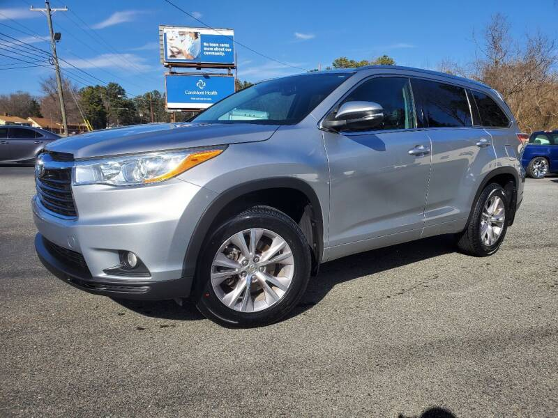 2014 Toyota Highlander for sale at Brown's Used Auto in Belmont NC
