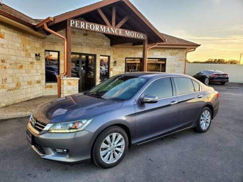 2014 Honda Accord for sale at Performance Motors Killeen Second Chance in Killeen TX