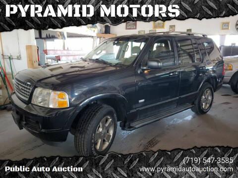 2003 Ford Explorer for sale at PYRAMID MOTORS - Pueblo Lot in Pueblo CO