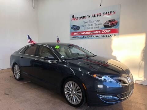 2013 Lincoln MKZ for sale at Antonio's Auto Sales - Antonio`s  2206 in Pasadena TX