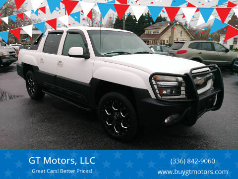 2002 Chevrolet Avalanche for sale at GT Motors, LLC in Elkin NC